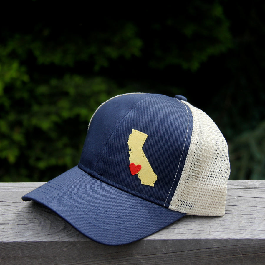 geo pacific blue trucker organic cotton california