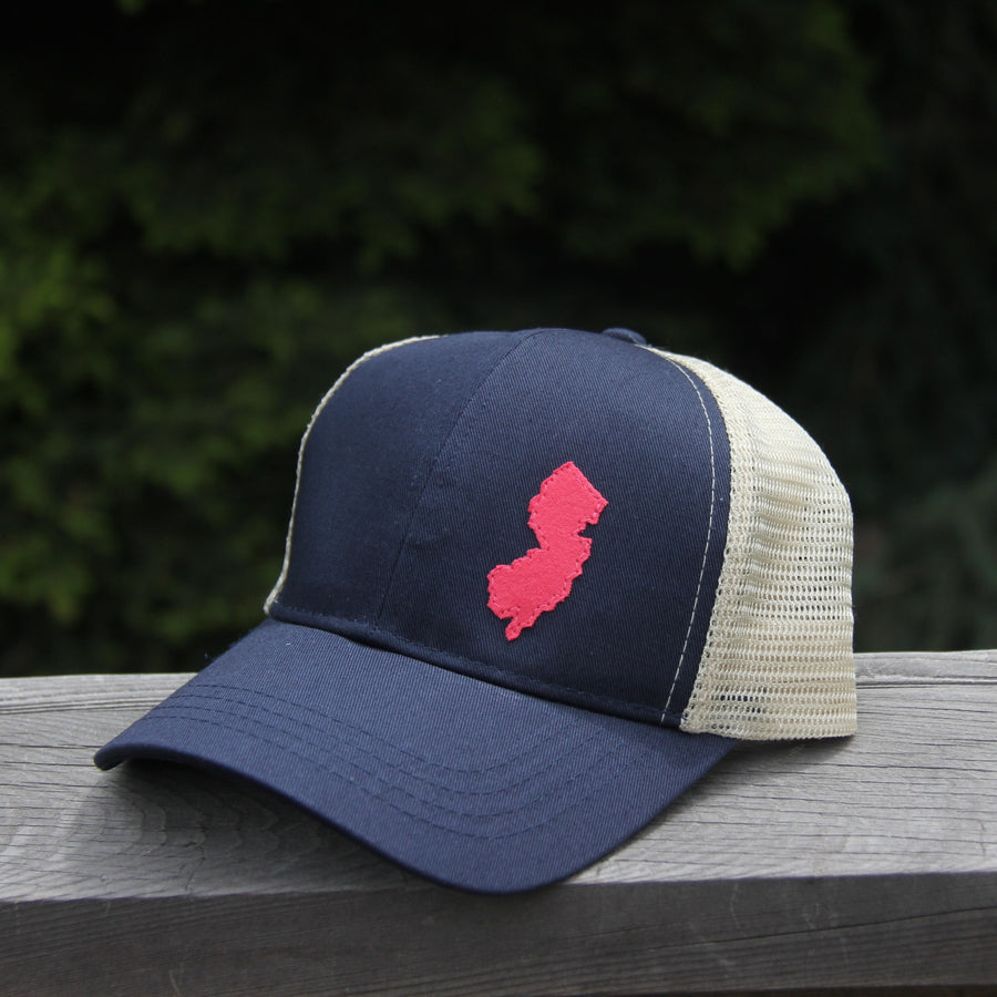 geo pacific blue trucker organic cotton
