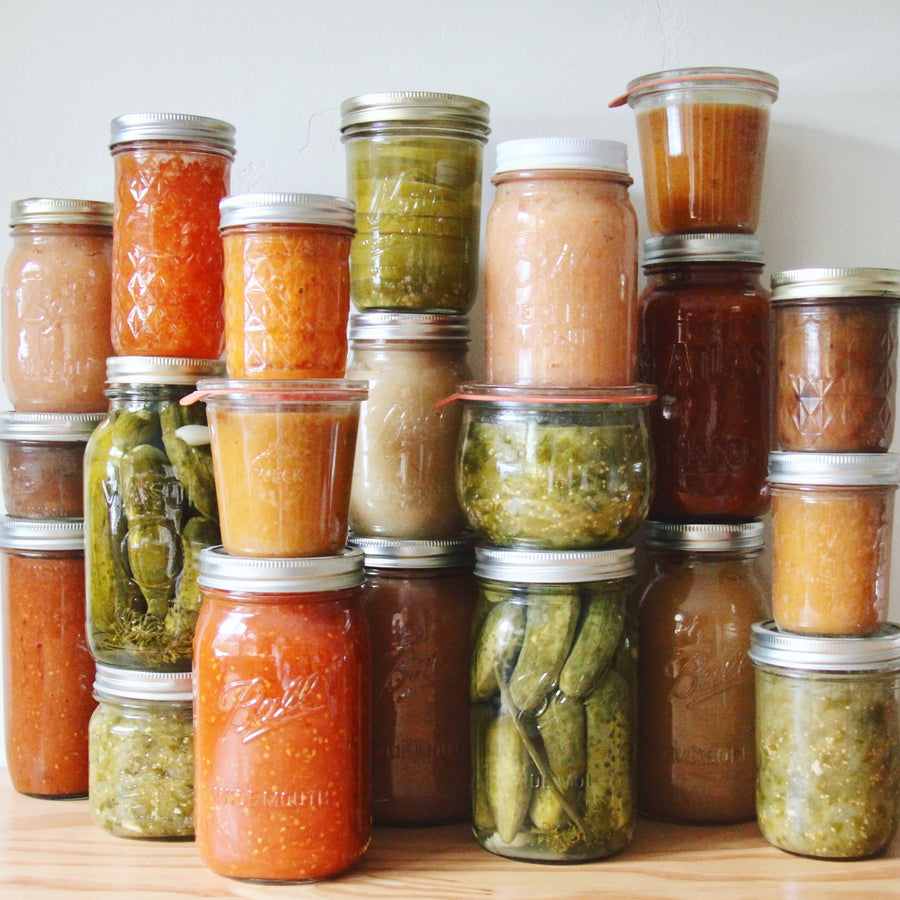 canned vegetables and fruit