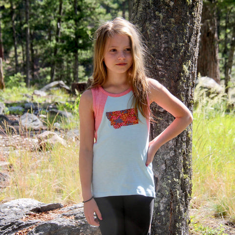 geo colorblock tank / organic / sizes 2-12