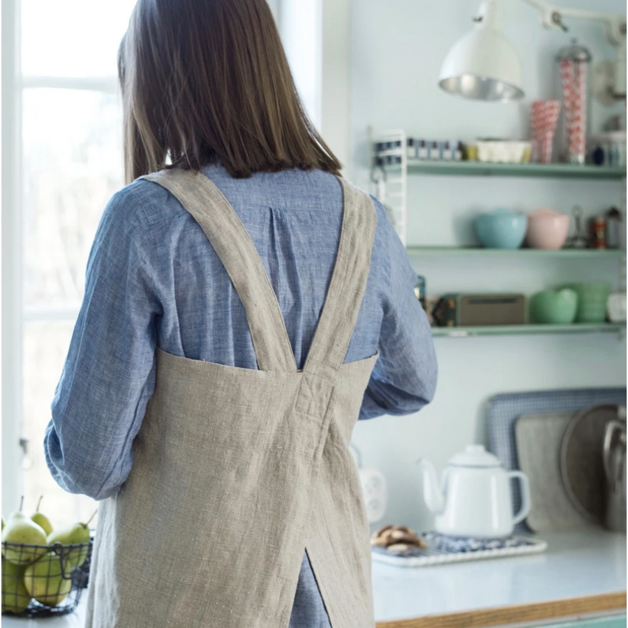 Linen Cross Back Apron