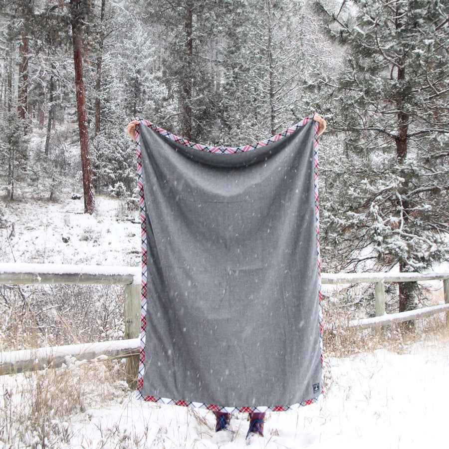 camp blanket cold moon edition heather side