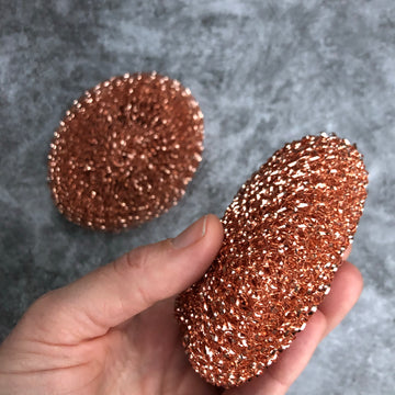copper pot scrubber / set of 2