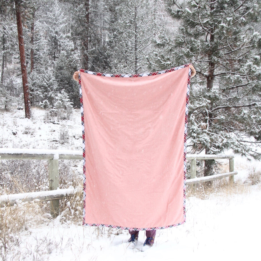 camp blanket cold moon edition blush side