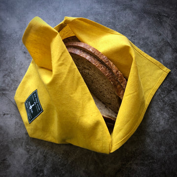 linen bento bag / citron