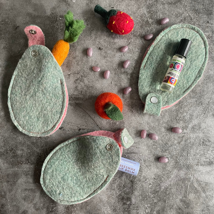 Upcycled Wool Egg Pockets / set of 3