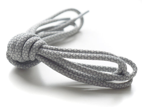 Fat Lace 3M Reflective Rope Laces Grey/Grey - 125cm