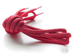 Fat Lace 3M Reflective Rope Laces Red/Grey - 125cm