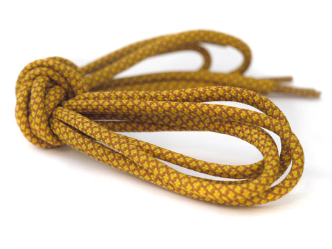 Fat Lace Flax Rope Laces Mustard/Ochre - 125cm