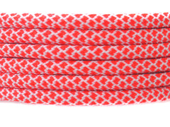 Fat Lace Coral Rope Laces Coral/White - 125cm