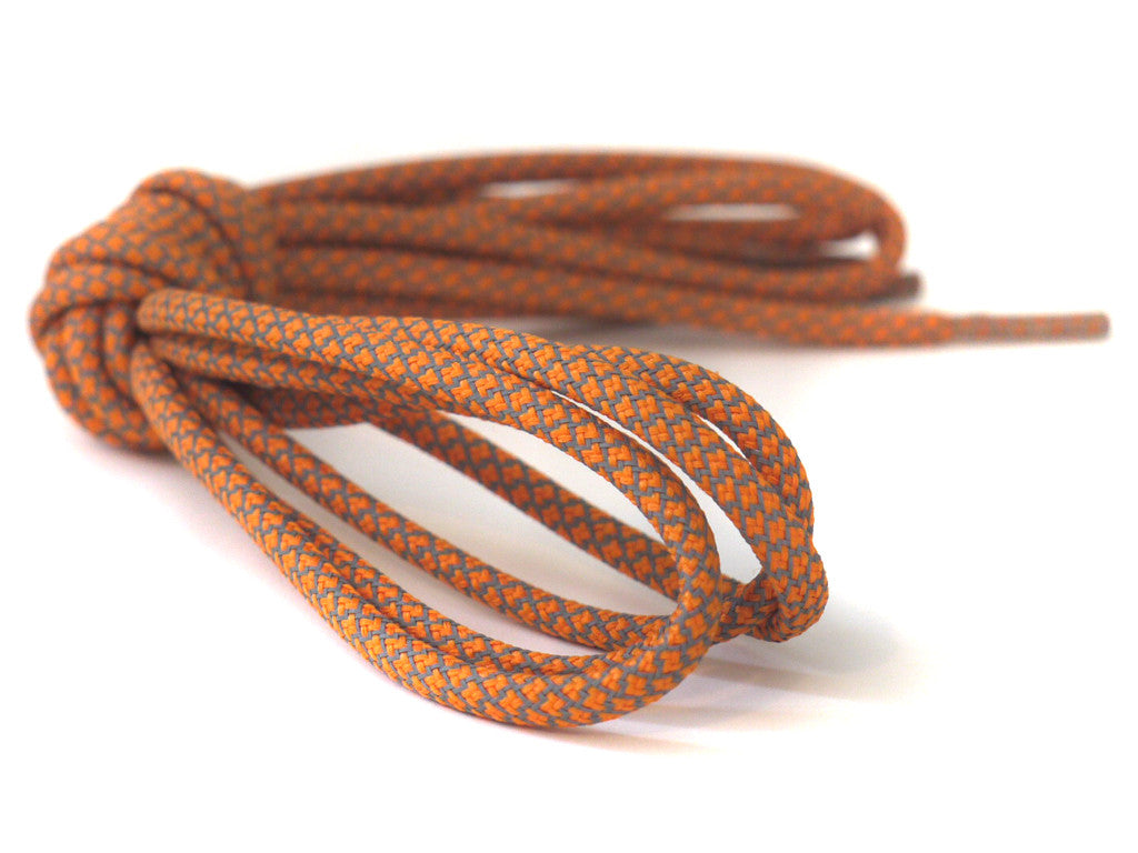 Fat Lace 3M Reflective Rope Laces Orange - 125cm