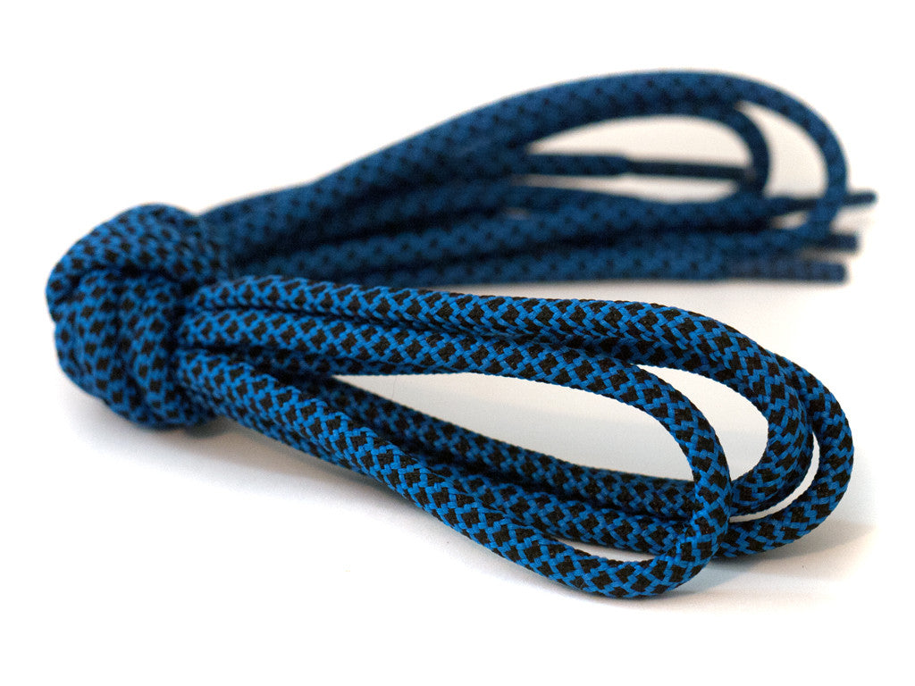 Fat Lace Royal Rope Laces Black/Blue - 125cm