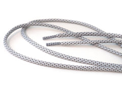 Fat Lace Cool Grey Rope Laces Grey/White - 125cm