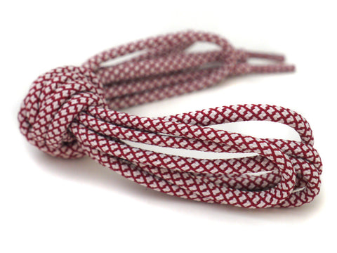 Fat Lace Bordeaux Rope Laces Off White/Burgundy- 125cm