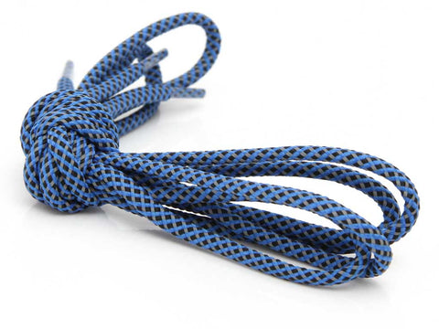 Fat Lace 3M 3 Colour Reflective Rope Laces Blue/Black/Grey- 125cm