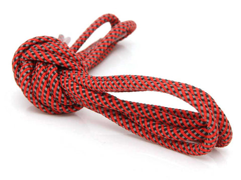 Fat Lace 3M 3 Colour Reflective Rope Laces Red/Black/Grey- 125cm