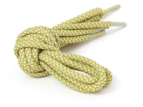 Fat Lace 3M Reflective Rope Laces Yellow/Grey - 125cm