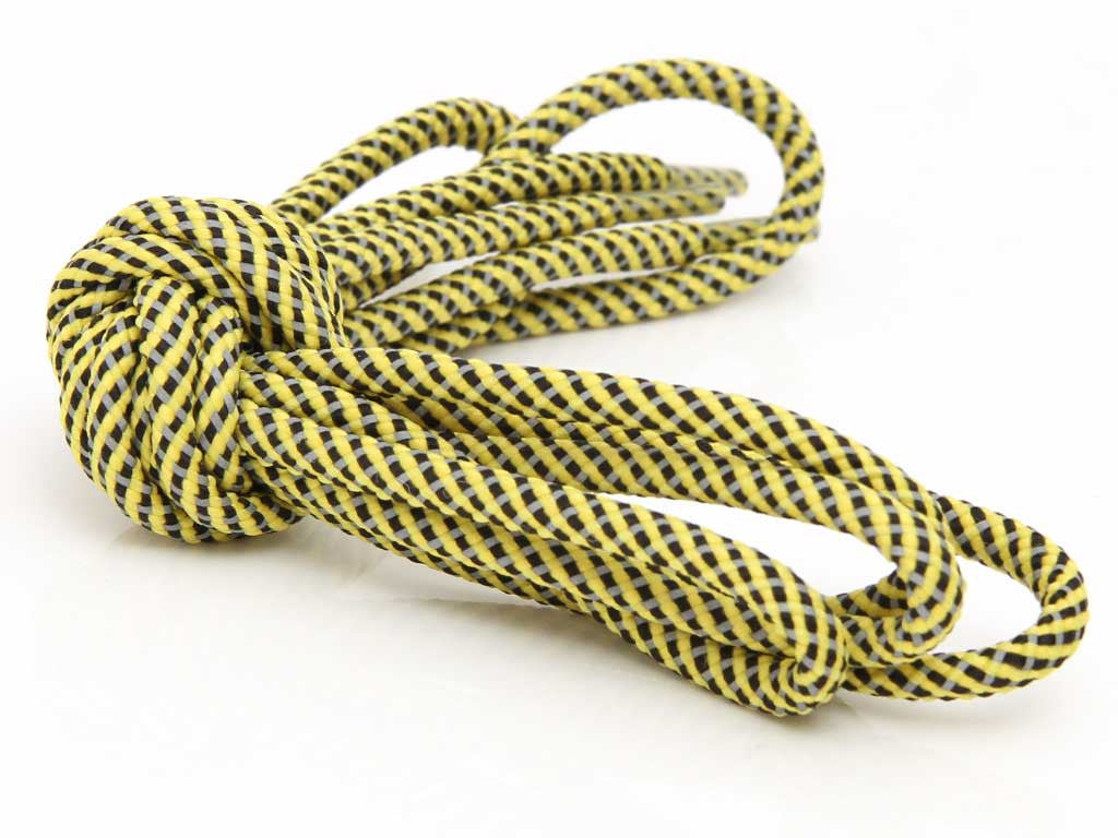 Fat Lace 3M 3 Colour Reflective Rope Laces Yellow/Black/Grey- 125cm