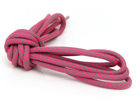 Fat Lace 3M Reflective Rope Laces Rose Red/Grey- 125cm