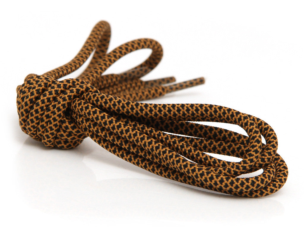 Fat Lace Escape Rope Laces Black/Brown - 125cm