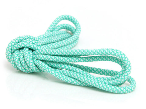 Fat Lace Green Glow Rope Laces White/Green - 125cm