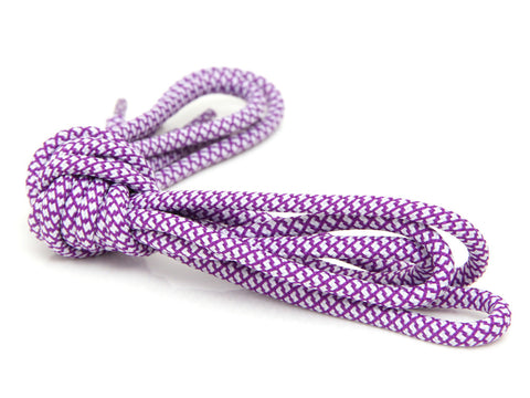 Fat Lace Grape Rope Laces White/Purple - 125cm