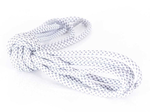 Fat Lace 3M Herringbone Reflective Rope Laces White - 125cm
