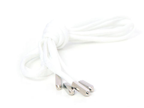Fat Lace Yeezy Laces White/Silver Tip- 120cm