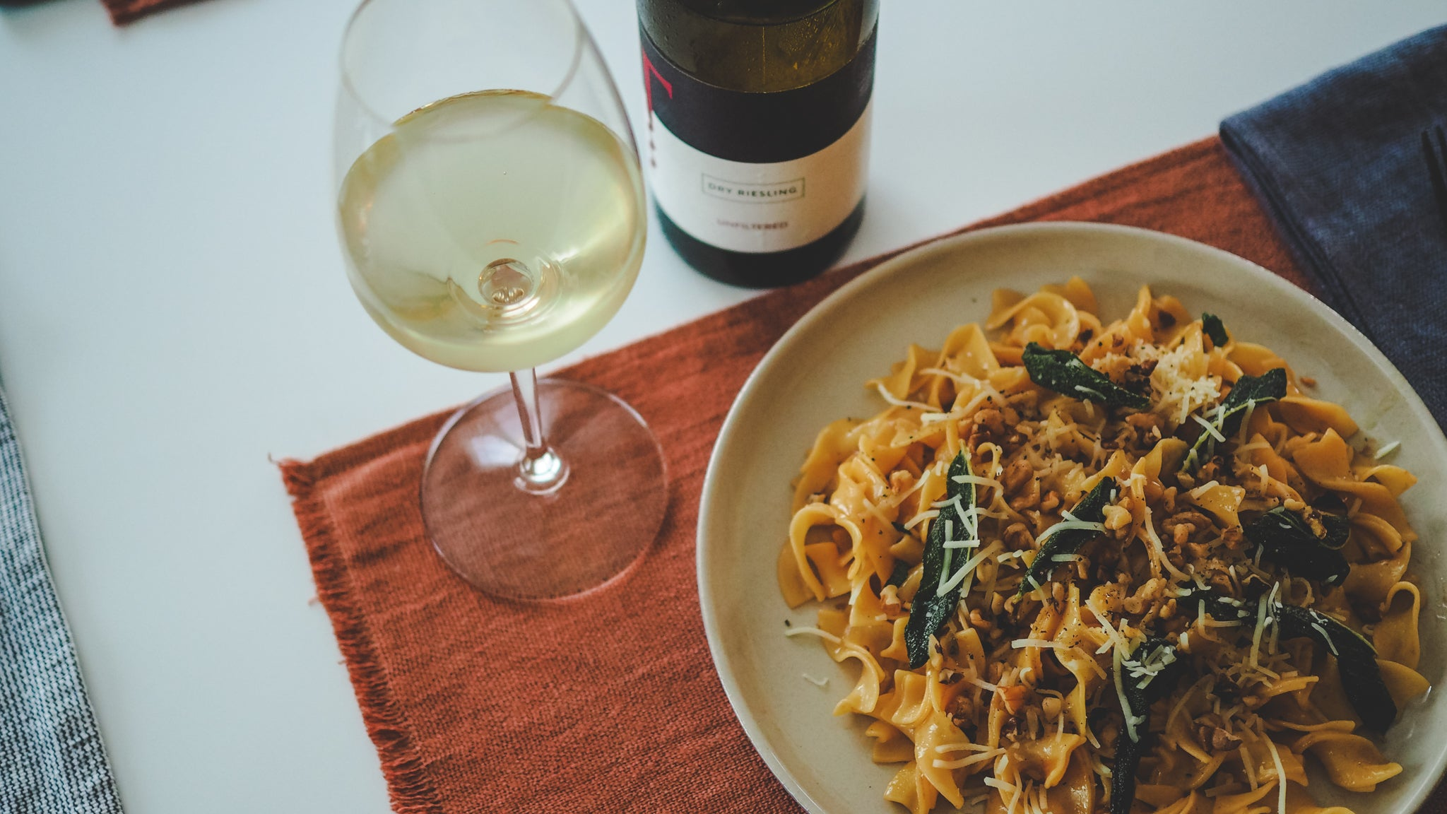 Food & Wine: Brown Butter & Sage Fettuccine with Dry Riesling