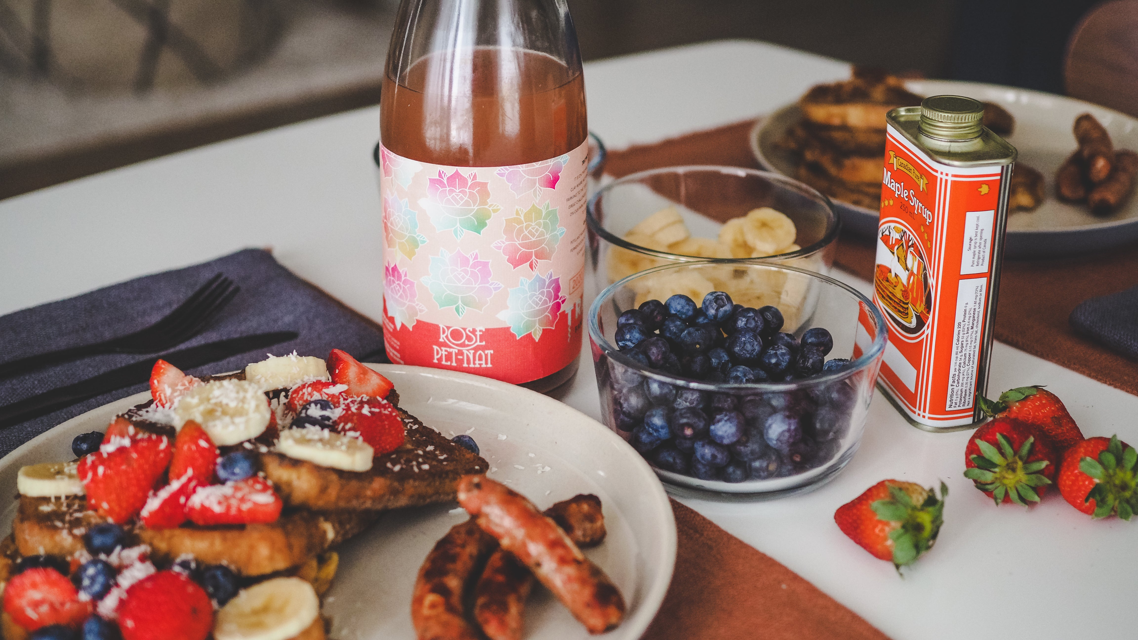 Food & Wine: Rosé Pet-Nat & Brioche French Toast