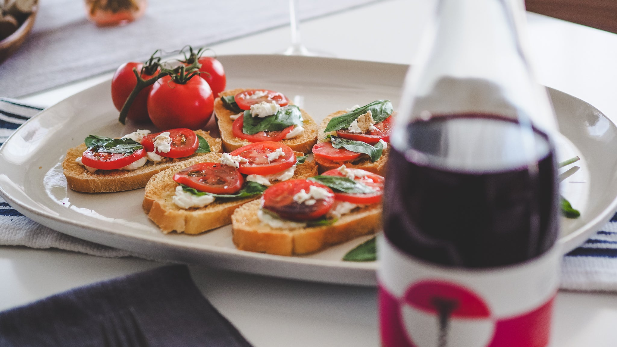 Food & Wine: Gamay Noir & Italian Bruschetta