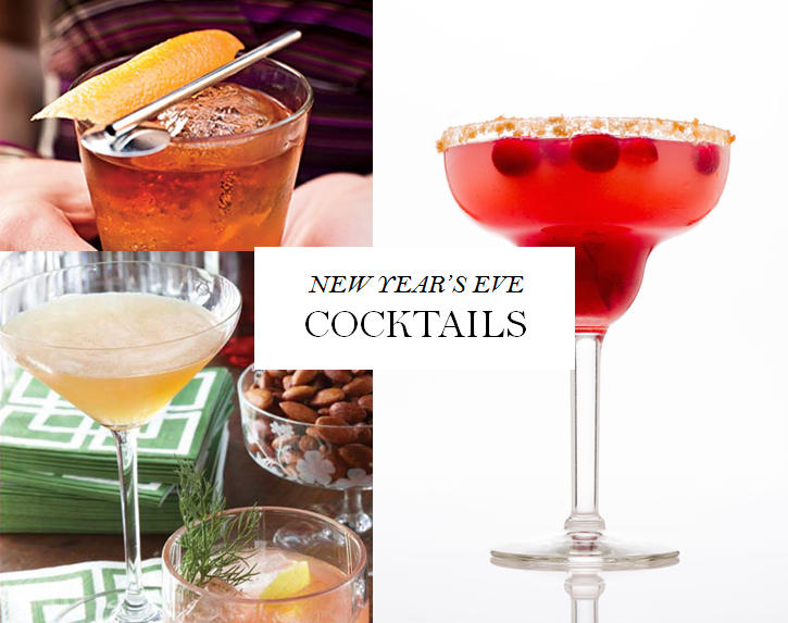 New Year's Eve Cocktails : Greet 2018 in Style