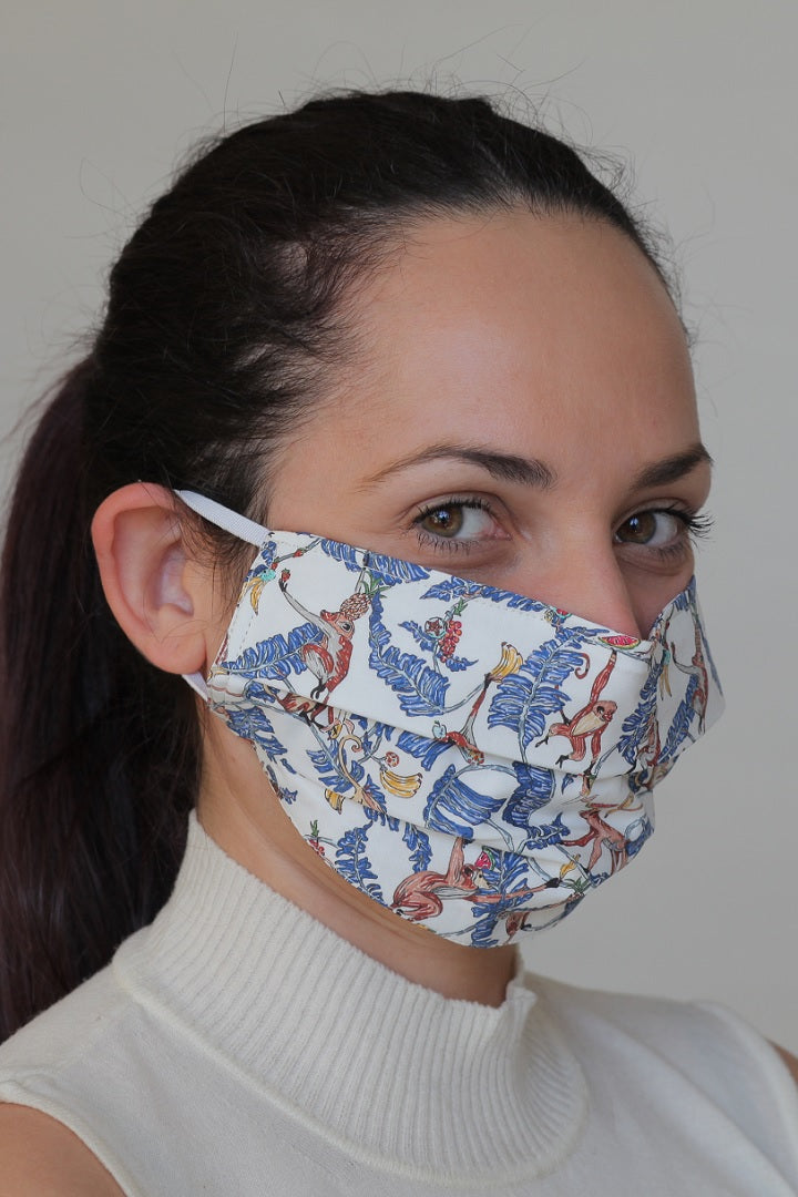 Reusable Protective Cloth Mask with Integrated Filter with Jungle Print