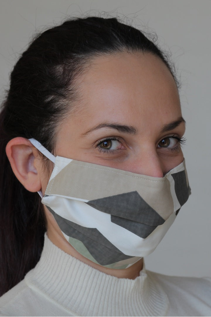 Protective Cotton Cloth Mask with Integrated Filter with Camouflage Print