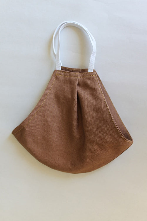 Linen Protective Cloth Mask in Brown