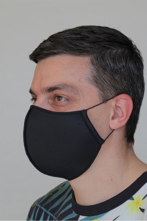 Black Neoprene Protective Reusable Cloth Mask