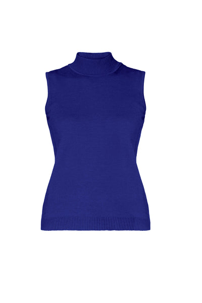 Indigo Merino Wool Sleeveless Top