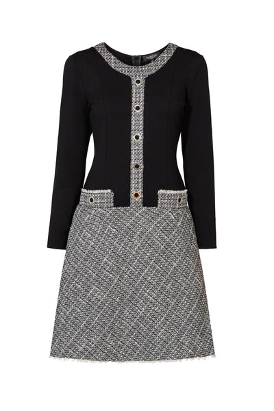 Monochrome Tweed Dress