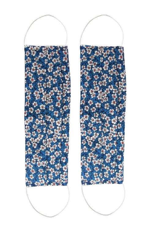 Pack of 2 Silk Face Masks With Integrated Filter in Small Floral