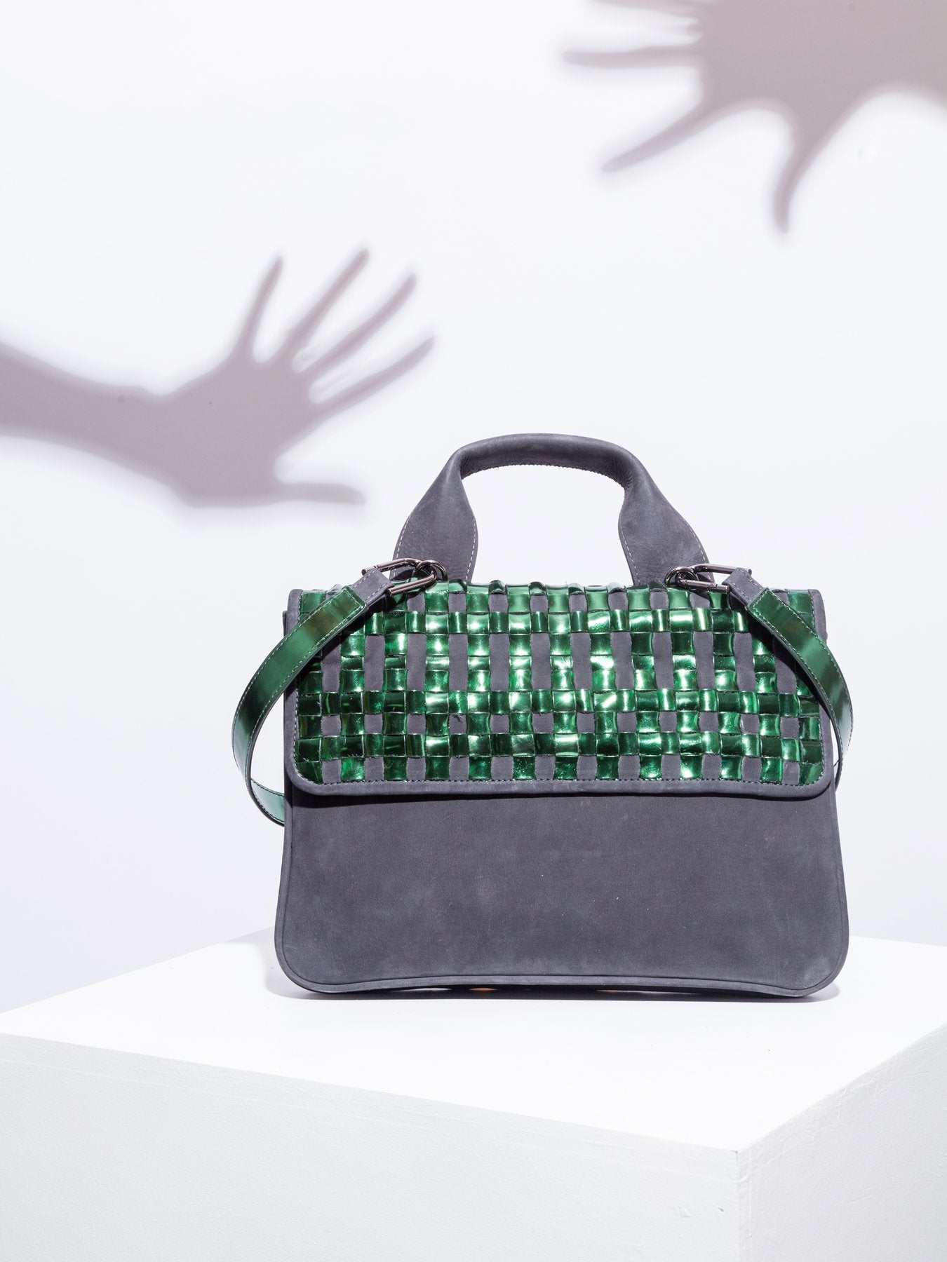 Chequer Green Mirror Bag