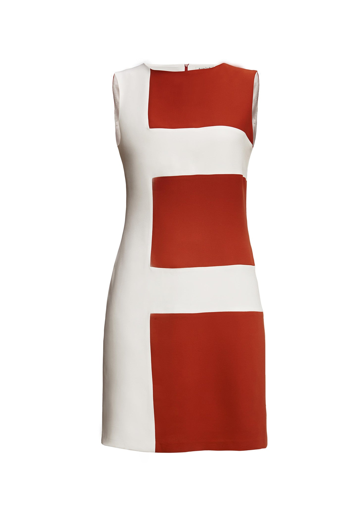 Striped Silk Sleeveless Dress