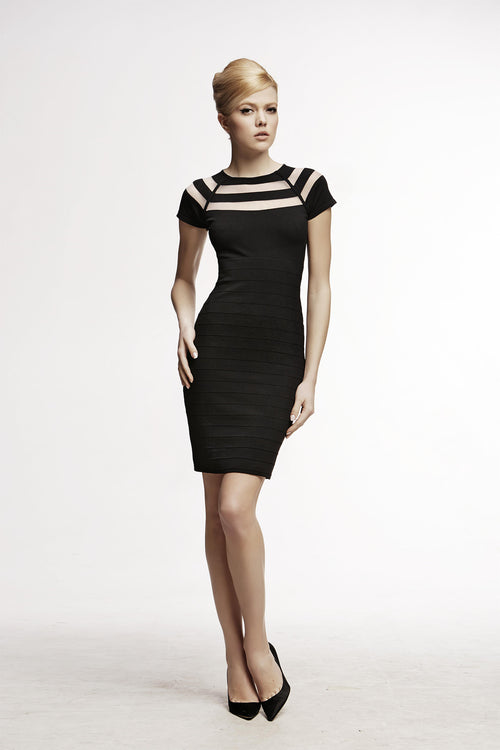 Bodycon Dress with Cut-Out Detail in Black
