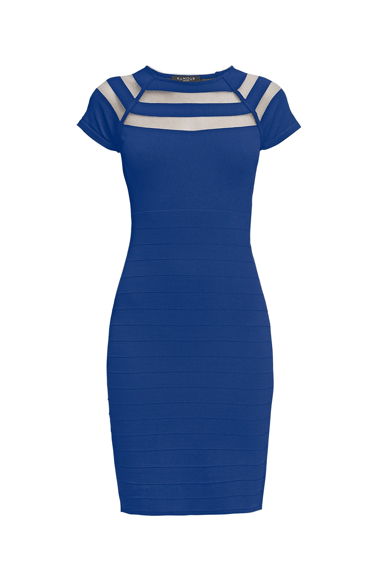 Bodycon Dress with Cut-Out Detail in Royal Blue