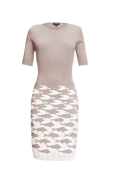 Soft Pink Merino Wool Knitted Dress