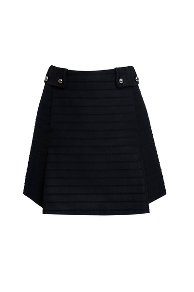 Wool and cashmere blend mini skirt