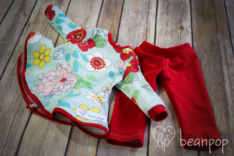 Olivia - Doll Sized Rosemary Raglan & Leggings set