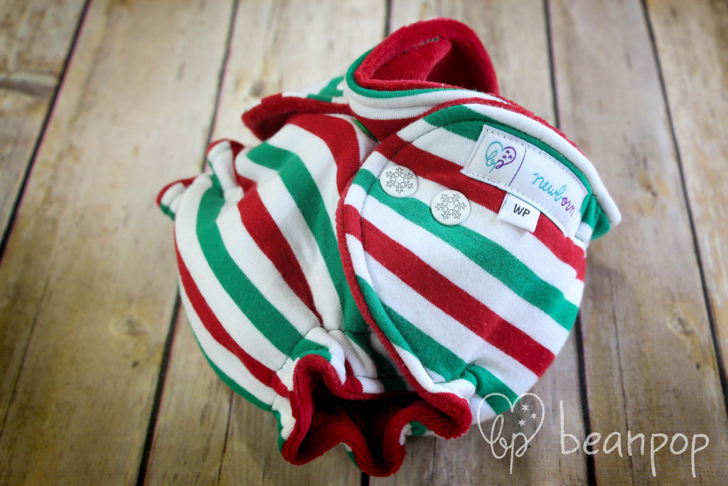 Jolly Stripes - Newborn - WindPro - Ruffle Turned - Red CV