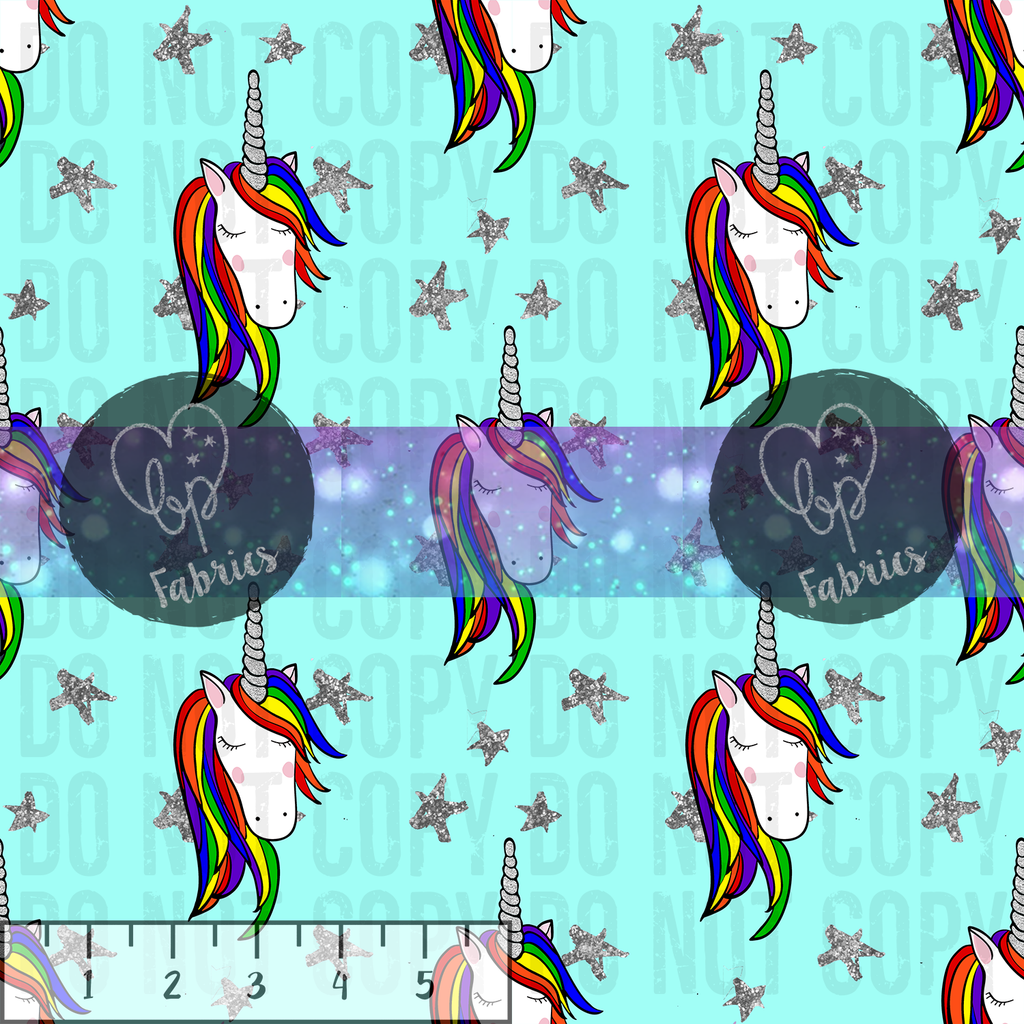 Beanpop Fabrics - Rainbow Unicorns - Fabric By the Yard