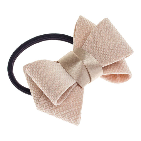 Blush Bow Hair Elastic