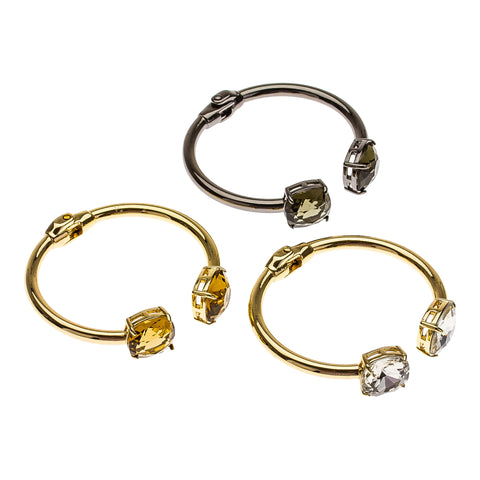 Cushion Cut Statement Bangles